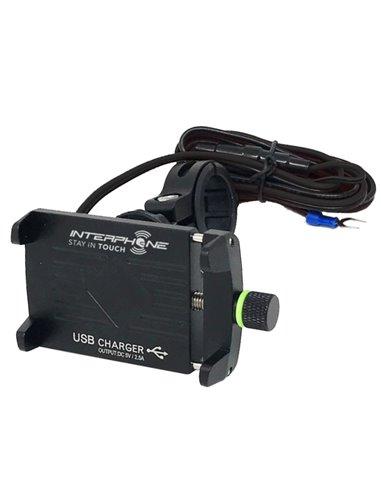 Soporte para Teléfono CRAB EVO ALU con USB de Interphone
