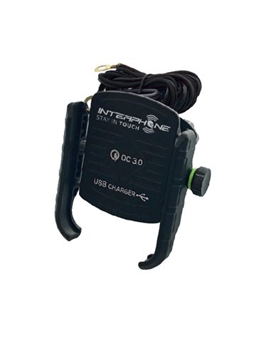 Soporte Universal para Smartphone MOTOCRAB con Toma USB de Interphone