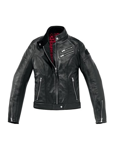 Chaqueta de Piel Cafe Race Lady
