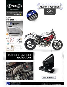 Soporte Artago de Candado de Disco 32/32X para Ducati Monster '06