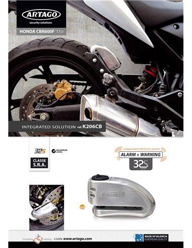 Soporte Artago de Candado de Disco 32/32X para Honda CB600F '08, Hornet y CBR600F '11