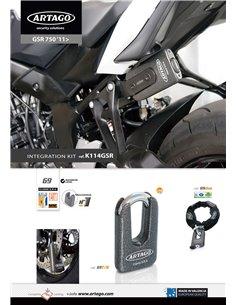 Soporte Artago de Candado 69T / 69X para Suzuki GSR750 '11