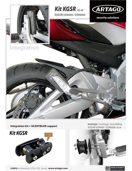 Soporte Artago de Candado 69T / 69X para Suzuki GSR600/A '06