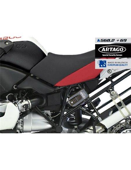 Soporte Artago Universal de Candado 69T / 69X para Anclaje en Tubos y Tornillos