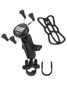 Soporte Ram Mount para teléfono RAM ® X-Grip ® con base de perno en U del manillar. Brazo corto