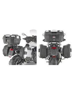 Portamaletas Givi PL ONE-FIT configurado para maletas MONOKEY® para Triumph Tiger 900 (20)