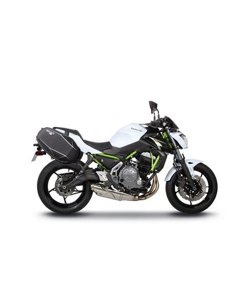 Fijación específica para bolsas laterales Shad para Kawasaki Z650 '17