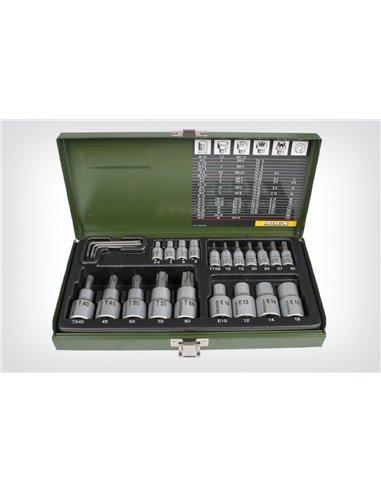 Conjunto de puntas Proxxon Torx (23 piezas)