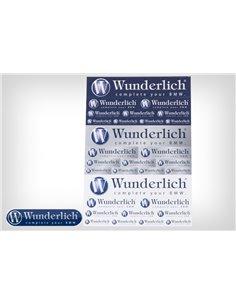 """Hoja con adhesivos """"Wunderlich"""""""