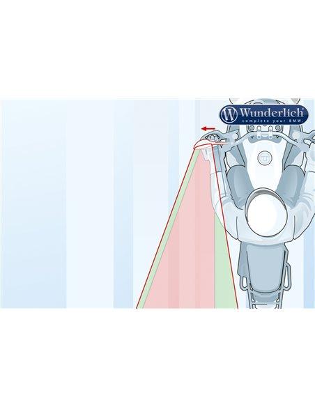 """Aplique visión convexa para espejo """"SAFER-VIEW"""" Cromado Derecho R1200GSLC, R1250G y Adv, RnineT y S1000XR"""