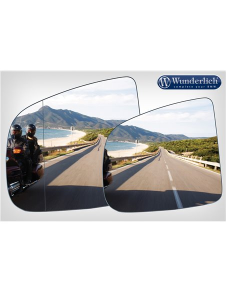 "Aplique visión convexa para espejo ""SAFER-VIEW"" Cromado Derecho R1200/1250RT"