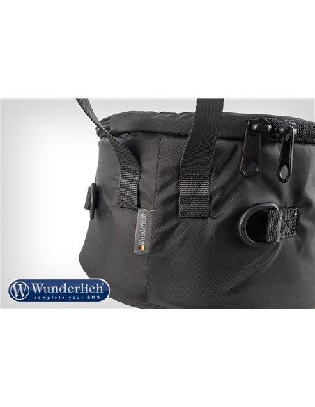 Pieza de inserción para guardar equipo fotográfico en la bolsa sobre depósito