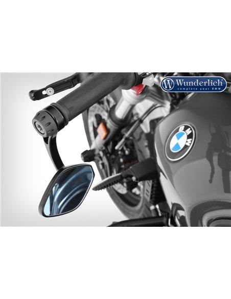 Adaptador de espejos retrovisores en extremos de manillar para BMW RnineT