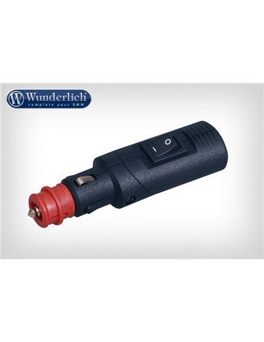 Adaptador toma corriente DIN con interruptor