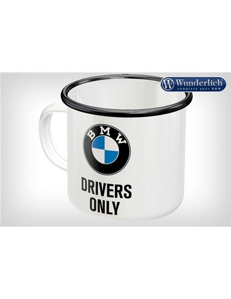 "Taza de esmalte ""BMW Drivers Only"" de Nostalgic Art"