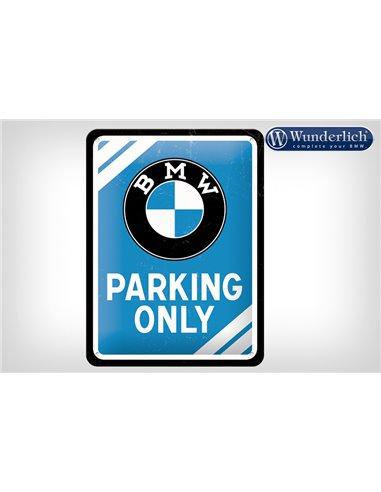 Letrero de chapa BMW Parking Only 15 x 20cm - Nostalgic Art