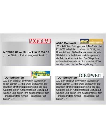"Asiento de pasajero ""AKTIVKOMFORT"" para BMW R1200GS (2008-2012) y ADV (-2013)"