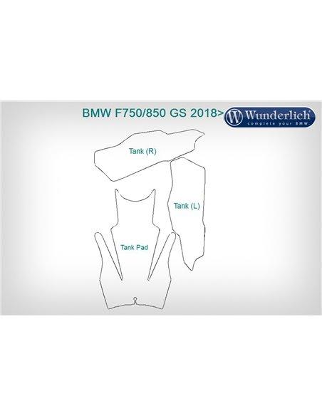 Set Protección de pintura Depósito   Venture Shield para BMW F750/800GS (2018-)