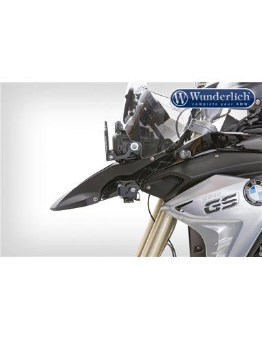 """Faros LED adicionales """"MICRO FLOOTER"""" Negro de Wunderlich para BMW F700/800GS"""