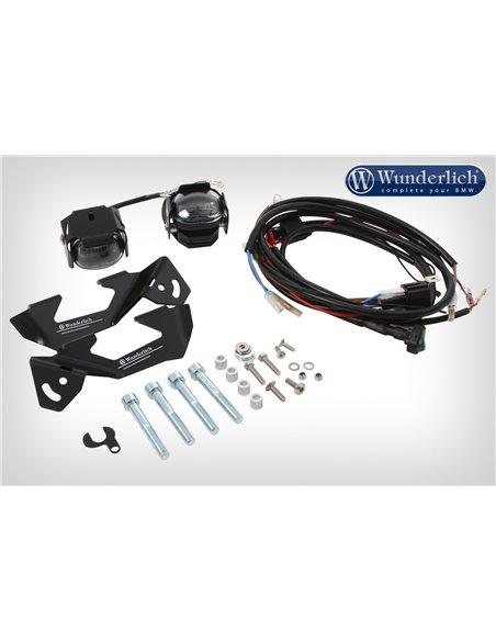 """Faros adicionales LED """"MICRO FLOOTER"""" Negro para BMW R1200GS LC y R1250"""