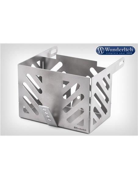 Caja de batería Wunderlich 2V Twinshock de acero inoxidable para BMW R45/60/75/100