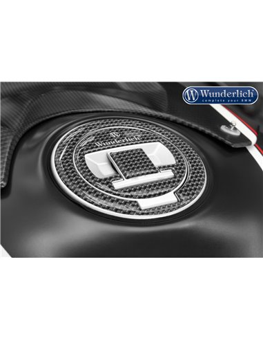 Protección para tapón de depósito efecto Carbono para BMW Serie F, R y S