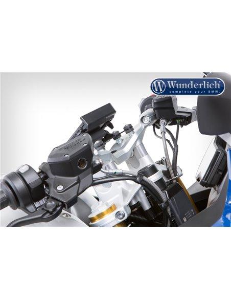 Alzas de manillar Wunderlich para modelos sin sistema de navegación GPS para BMW R1200R/RS LC y R1250R