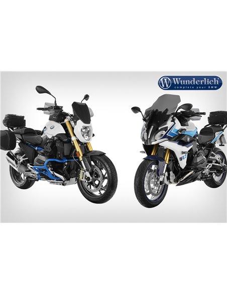 Alzas de manillar Wunderlich para modelos con navegador GPS BMW R1200R y RS LC y R1250R